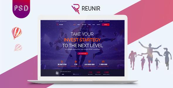 Reunir – Sports Investment Landing Page