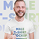 Male T-Shirt Mockups. Vol 2. Part 1 - GraphicRiver Item for Sale