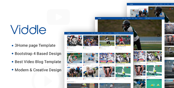 Download Viddle – Video Blog PSD Template Nulled