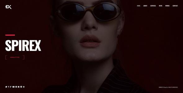 Spirex - Photography Portfolio Template