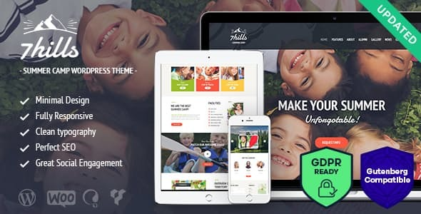 SevenHills - Hiking Summer Camp Children WordPress Theme
