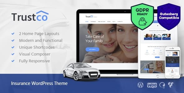 Insurance Agency, Finance & Business WordPress Theme