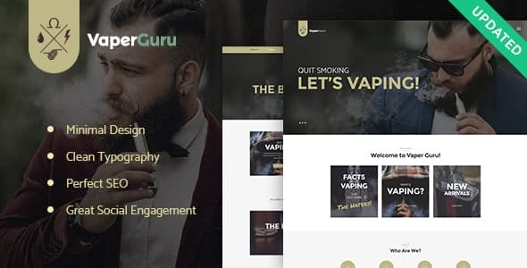VaperGuru - Vapers Community & Cigarette Store WordPress Theme