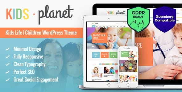 Kids Planet - A Multipurpose Children WordPress Theme