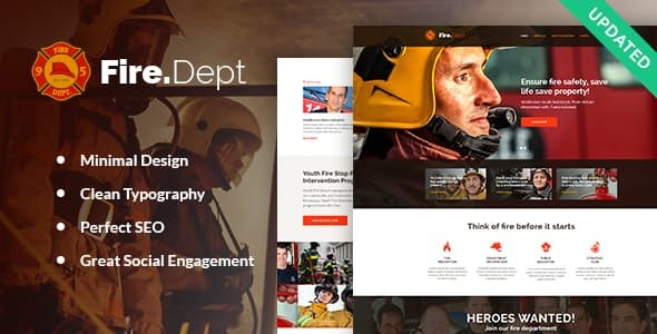 Fire Department - FD Station and Security WordPress Theme