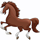 Cartoon Brown Horse Galloping Freely Vector Illustration - GraphicRiver Item for Sale