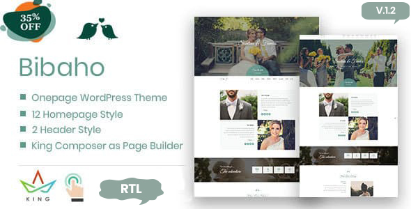 Bibaho - Wedding WordPress Theme