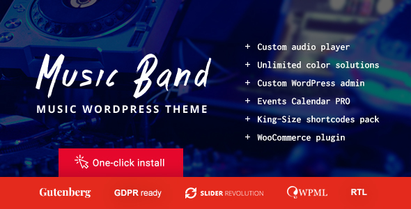 Music Band Live Event and Dance Club WordPress Theme