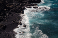 beautiful view on ocean water and black lava sand - PhotoDune Item for Sale