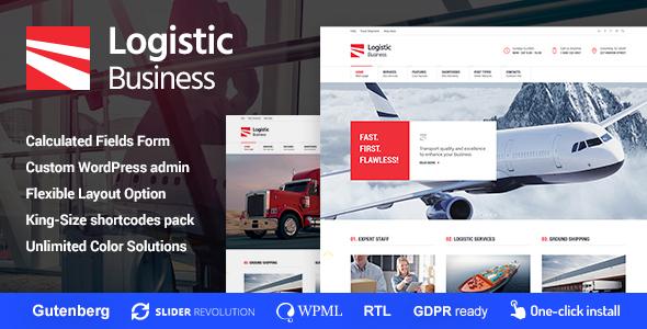 Logistic Business - Transport & Trucking Logistics WordPress Theme