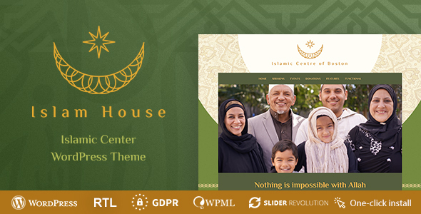 Islam House - Mosque and Religion WordPress Theme