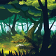 Background of Landscape with Deep Jungle - GraphicRiver Item for Sale