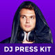 EDM DJ Press Kit / Rider / Resume PSD Template - GraphicRiver Item for Sale