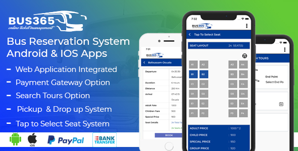 Bus365 Apps | Bus Reservation System Android and IOS Apps Download