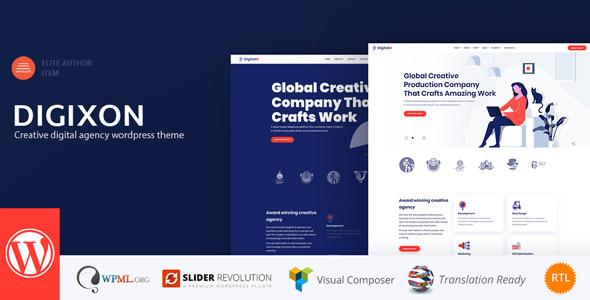 Digixon – Creative Digital Agency WordPress Theme Free Download