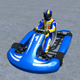 Low Poly Kart With Player 1 - 3DOcean Item for Sale
