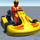 Low Poly Kart With Player 2 - 3DOcean Item for Sale
