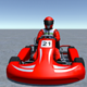 Low Poly Kart With Player 3 - 3DOcean Item for Sale