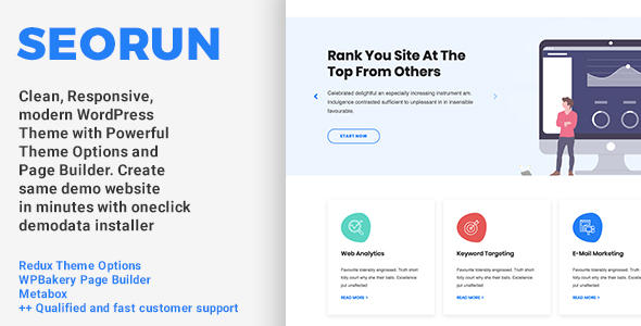 Seorun - SEO Agency WordPress Theme
