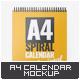 A4 Spiral Calendar Mock-Up - GraphicRiver Item for Sale