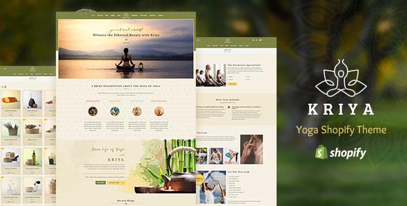 Kriya - Yoga Shopify Theme