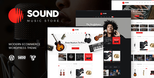 Sound | Musical Instruments Online Store WordPress Theme