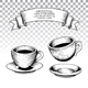 Ink Engravings of Coffee Cups - GraphicRiver Item for Sale