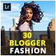 30 Blogger Fashion Lightroom Presets - GraphicRiver Item for Sale