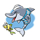 Cartoon Marine Dolphin and Little Fish Friend Vector Illustration - GraphicRiver Item for Sale