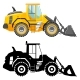 Set of Heavy Construction and Mining Machines Icons - GraphicRiver Item for Sale