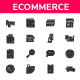 E - Commerce - Glyph Icon Style - GraphicRiver Item for Sale