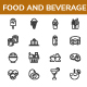 Food and Beverage Line Icon set - GraphicRiver Item for Sale