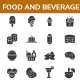 Food and Beverage Glyph Icon set - GraphicRiver Item for Sale