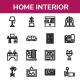 Home Interior Line Icon Set - GraphicRiver Item for Sale