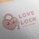 Love Lock Logo Design - GraphicRiver Item for Sale