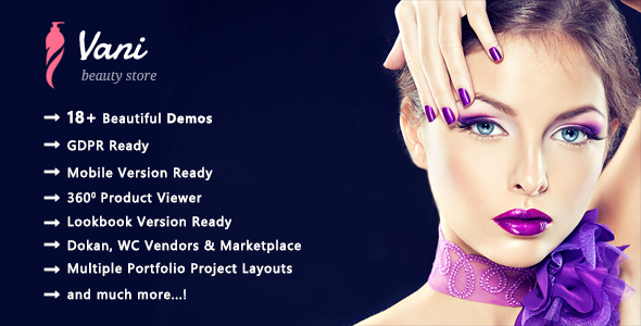 Vani | Cosmetics Beauty WooCommerce WordPress Theme