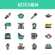 Kitchen - Filled Line Icon set - GraphicRiver Item for Sale