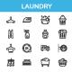 Laundry - line icon set - GraphicRiver Item for Sale