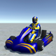 Low Poly Kart With Player 6 - 3DOcean Item for Sale