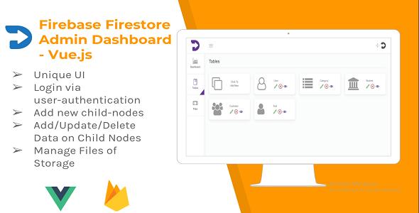 Firebase Firestore Admin Dashboard - Vue.js