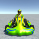 Low Poly Kart With Player 7 - 3DOcean Item for Sale