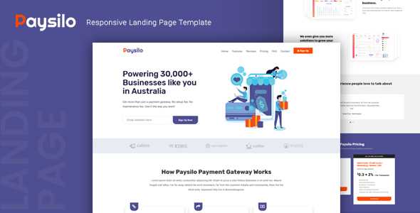 Paysilo — Responsive Landing Page Template
