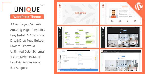Resume / Portfolio Theme