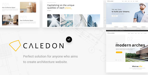 Caledon - Modern WordPress Theme For Architecture & Interior Companies