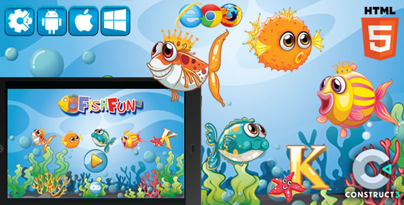 Slot Fish Fun - Html5 Game (CAPX)
