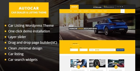 Auto Car WordPress Theme