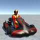 Low Poly Kart With Player 9 - 3DOcean Item for Sale