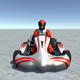 Low Poly Kart With Player 10 - 3DOcean Item for Sale
