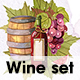 Watercolor Wine and Winery Collection - GraphicRiver Item for Sale