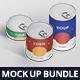Food Tin Can Mockup Bundle - GraphicRiver Item for Sale